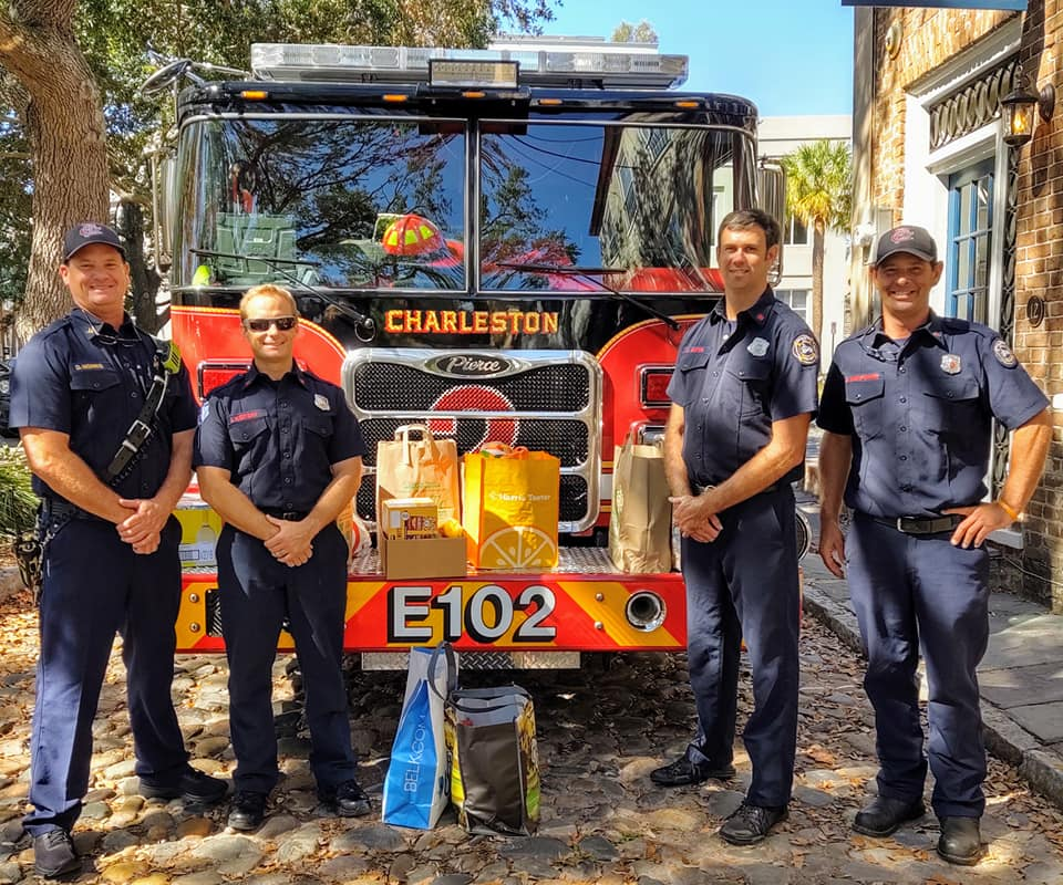 The team in front of Engine 2