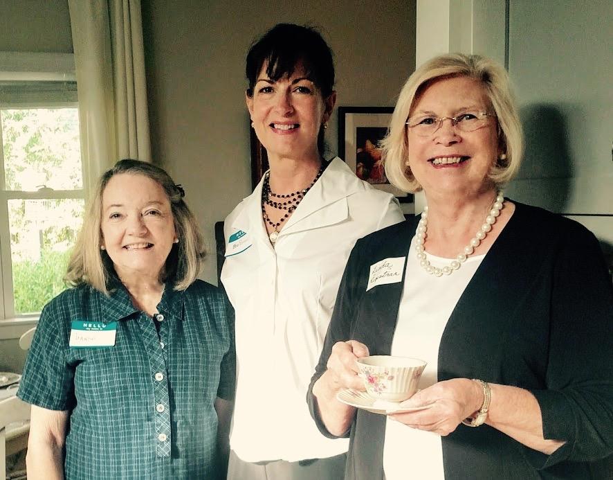 Treasurer Linda welcomes two new members