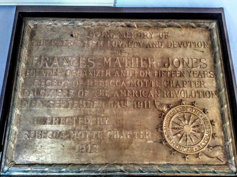 Regent Frances Mather Jones Plaque